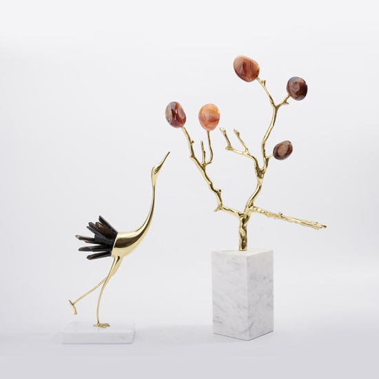 Wrapped Agate Tree Branches Indoor Living Room and Study Household Soft Decorations