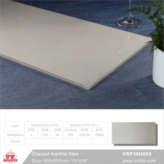 Building Material Marble Stone Glazed Polished Porcelain Floor Tile (VRP36H006, 300X600mm/12′′x24′′) pictures & photos