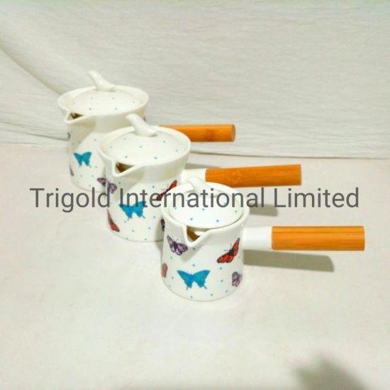 Popular Porcelain Creamer with Lid