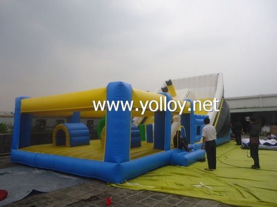 Popular Inflatable Titanic Slide with Obstacle pictures & photos