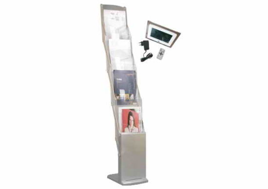 A4 X 4 Pockest Acrylic Literature Holder Brochure Holder Stand Display Stand pictures & photos