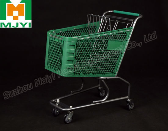 Plastic Supermarket Convenient Retail Shopping Trolley pictures & photos