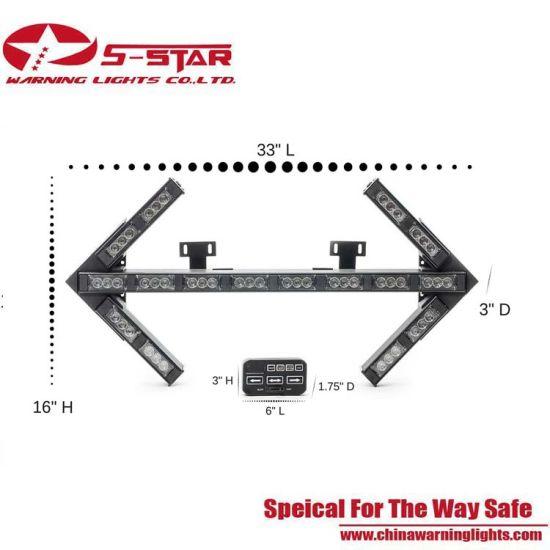 3W Super Bright Traffic Directional Arrow Strobe Flashing LED Warning Light