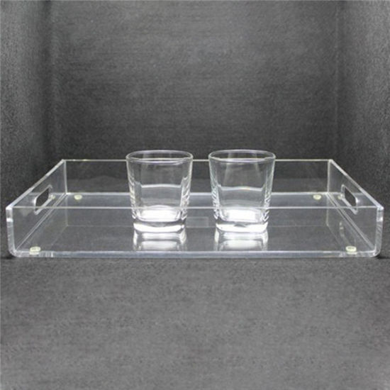 Surprising Clear Acrylic Tray For Coffee Table Breakfast Tea Food Butler Home Interior And Landscaping Ologienasavecom