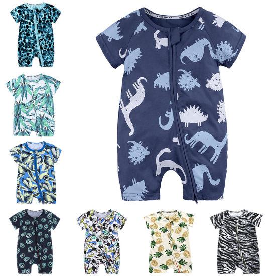 Bkd Short Sleeve Multi-Designs Cute Romper Cotton Newborn Baby Clothes Wholesale