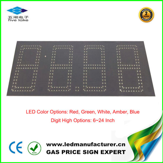 12 Inch Amber Digital Outdoor LED Oil Price Panel Screen