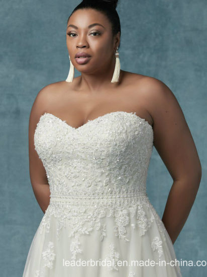 China Custom Plus Size Wedding Dress Lace Tulle Bridal Gown M9032