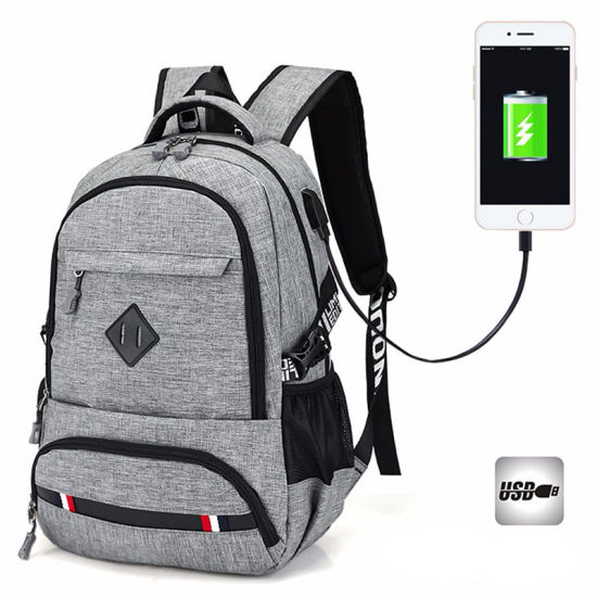 New Outdoor Leisure USB Charging Port Backpack Travel School Bag