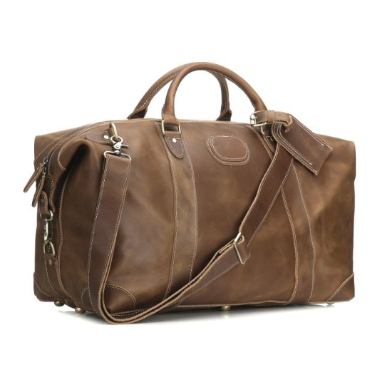 5f4141ed8a Airplane Underseat Carry on Bags Cowhide Leather Travel Duffel Bag (RS  -MS1012)