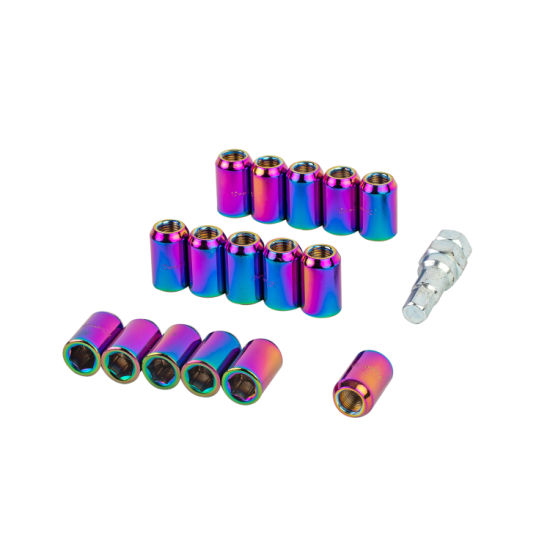 Auto Trends 16 PCS M12 X 1.5 Metal Hex Locking Alloy Lug Nuts Wheel Nuts Anti-Theft for Vehicles Car