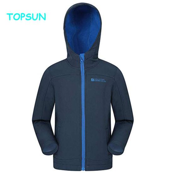 Children's Softshell Jacket Winter Outdoor Hoody Sportswear Windproof Waterproof Clothes