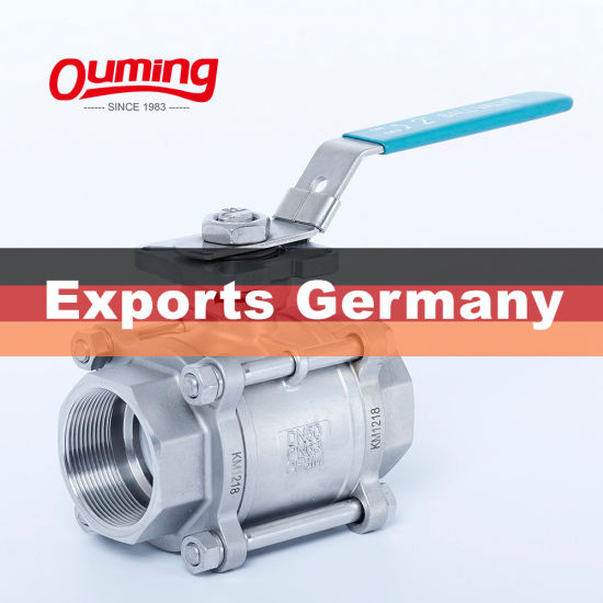 High Quality Casted Stainless Steel 3PC Ball Valve
