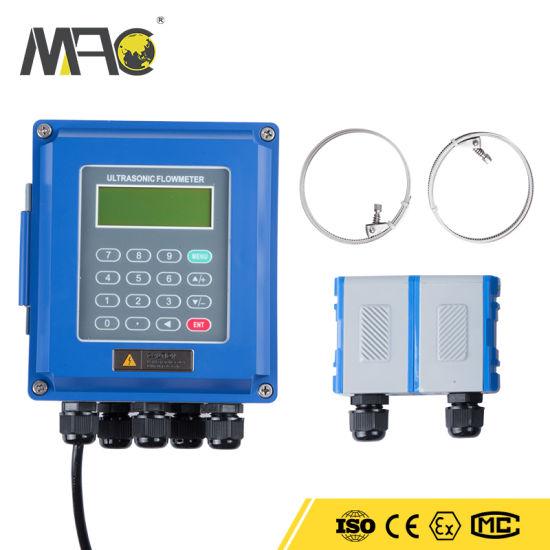 Portable Ultrasonic Transit-Time Liquid Flow Meter Ultrasonic Flowmeter Price