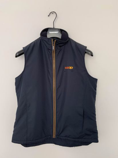 Company, Factory Staff Workwear Uniform Gilet/Vest with Custom Logos, Inner Polar Fleece