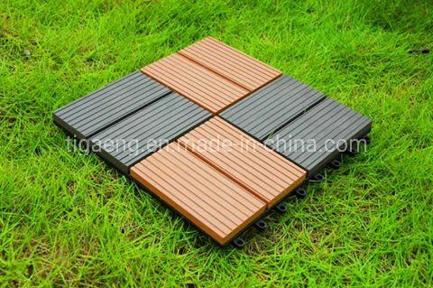 Outdoor Interlocking WPC DIY Deck Tiles/Sports Rubber Wood Plastic Flooring