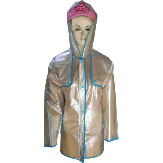 TPU Rain Jacket for Womens Popular with Breathable and Water Resistant