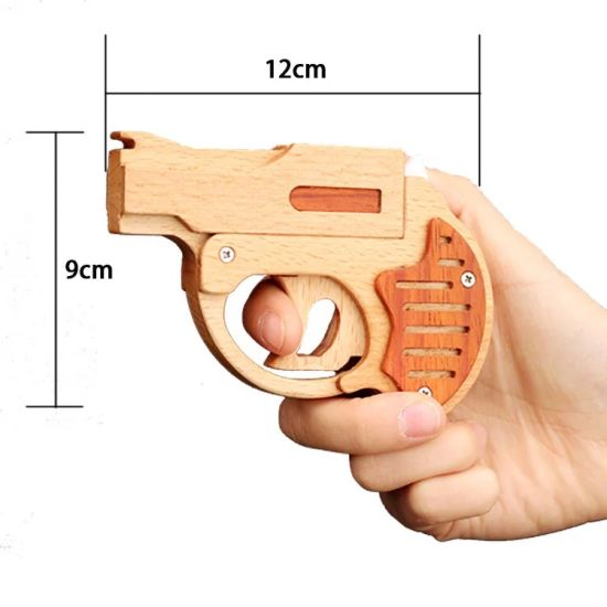 Classic Shooting Game Wooden Toy Gun for Kids W02A099 pictures & photos