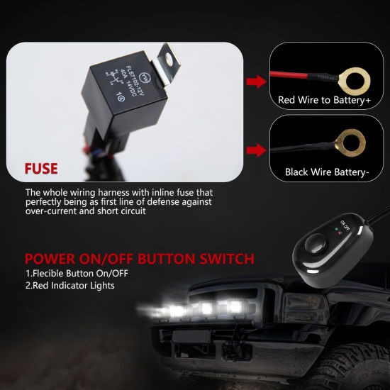 one control two switch dt cable wire harness for led light bar