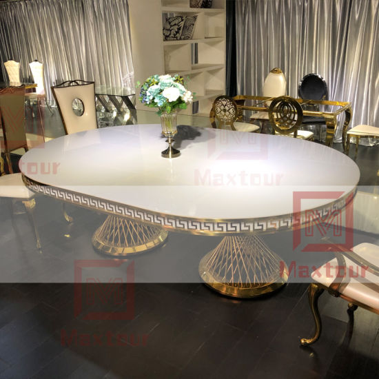 Wedding Furniture LED Light Acrylic Top Event Banquet Dining Table