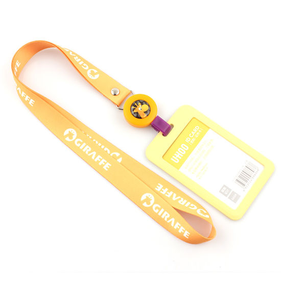Manufacturer Cheap Nylon Material Yellow Lanyard Personalized Badge Holder