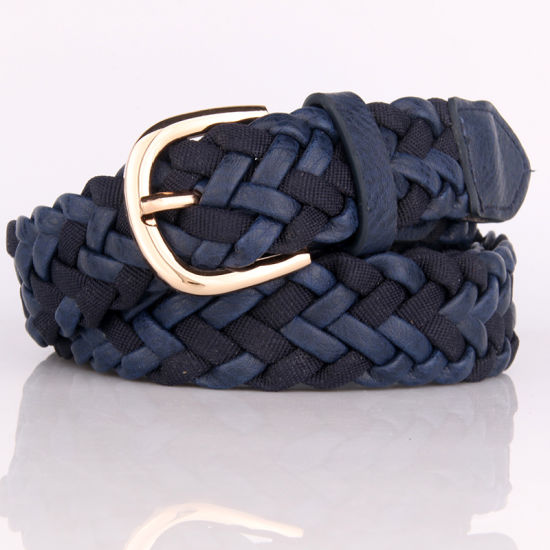 Fashion Women PU + Fabric Braided Belt pictures & photos