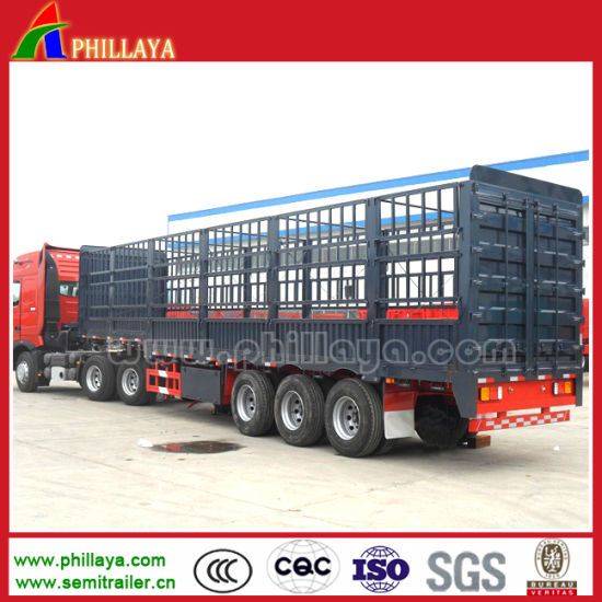 China Low Price Stake Semi Trailer/Bulk Cargo Trailer pictures & photos