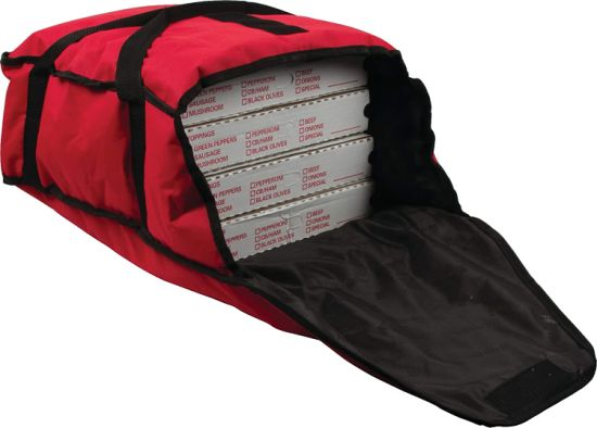 Commercial Insulated Pizza & Food Delivery Bag, Large Capacity Pizza Bag with Heat Pad