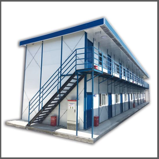 Safe and Durable Prefabricated Steel Structure Light Flat Roof Prefab House pictures & photos