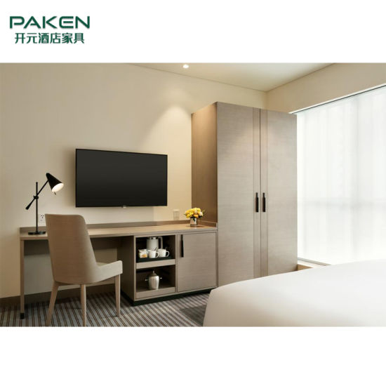 Luxury High Grade Chinese Wooden Hotel Bedroom Furniture Set Custom Made Furniture
