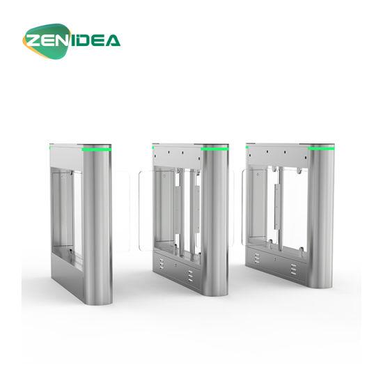 Nice Design Slim Pedestrial Swing Barrier Gate