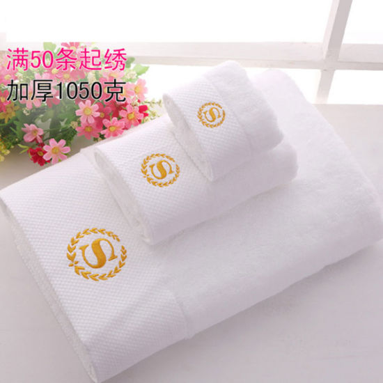 Hemstitch High Quality Cotton Terry Hotel Towel (DPFT8005)