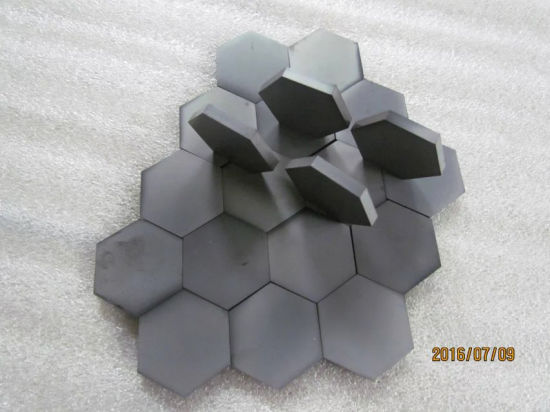 Advanced Industrial Ceramic Sintered Silicon Carbide Ceramic (SSIC) Tiles of Hexagonal for Armor Bulletproof