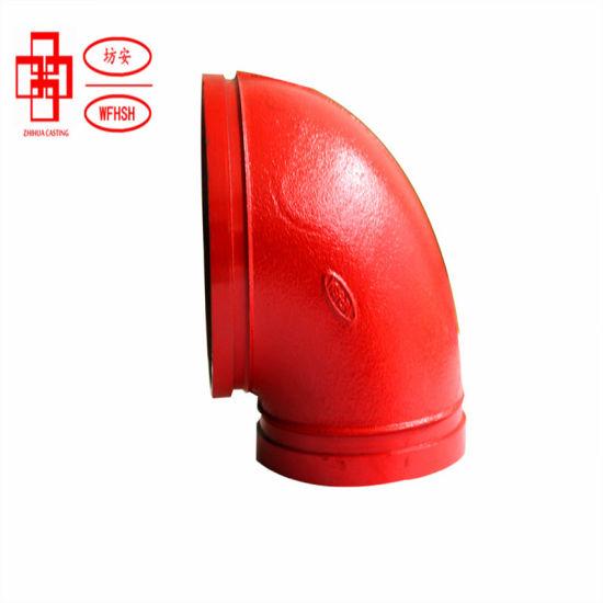 Ductile Iron Grooved Pipe Fittings 90deg/ 45deg/ 22.5deg/ 11.25deg Elbow for Fire Protection System