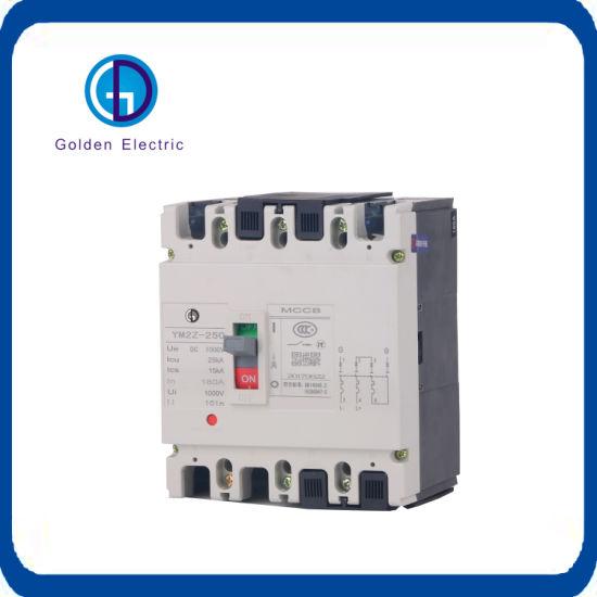 DC/AC 80A-1600A 3 Pole 4 Pole Moulded Case Circuit Breaker