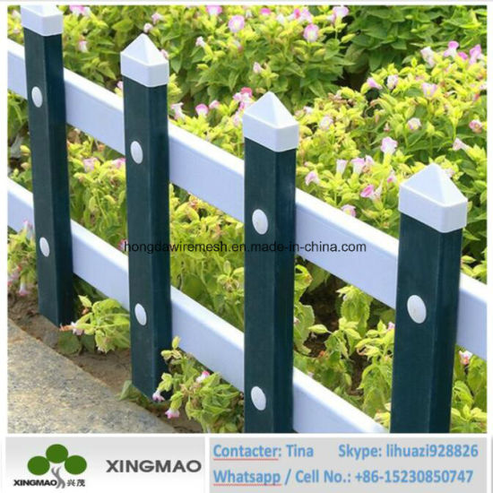 china manufacturer of pvc picket plastic lawn edging fence xm82