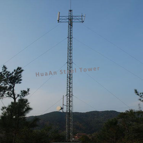 Guyed Wire Line Communication Signal Steel Metallic Latticed Tower pictures & photos