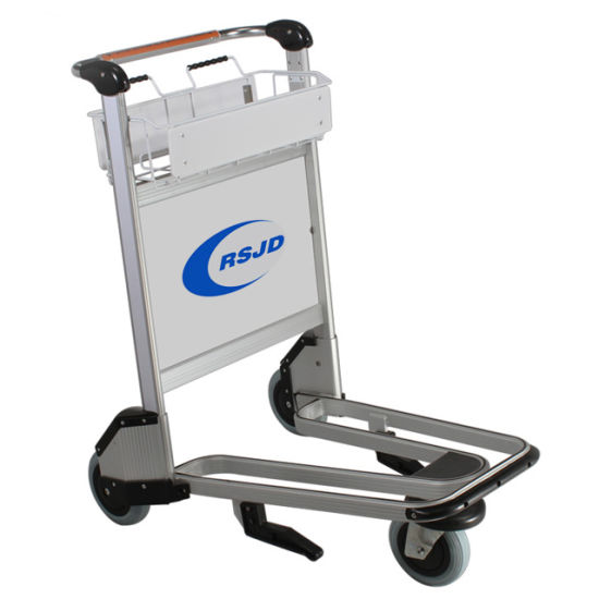 Handle Aluminum Alloy Luggage Airport Trolley with Brake