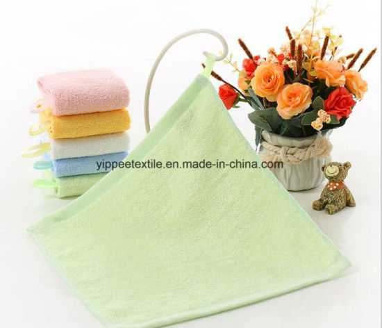 Bamboo Baby Burp Cloth, Burp Towel with Hook Loop pictures & photos