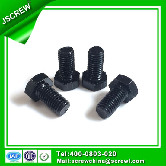 Carboon Steel Black Hex Head M10*20 Machine Screw pictures & photos