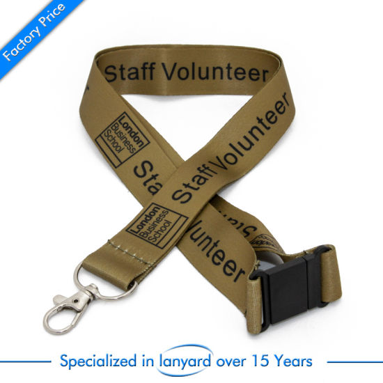Wholesale High Quality Sublimation Neck Lanyard ID Badge Holder with Logo Custom