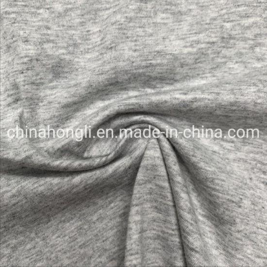 Knitting Fabric 100%Cotton Light Grey Single Jersey for T-Shirt