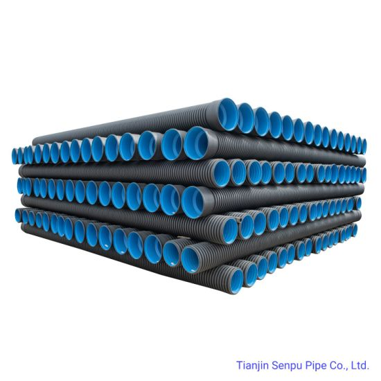 Double Wall and Steel Strip Strengthen Corrugated Pipe for Underground Sewer