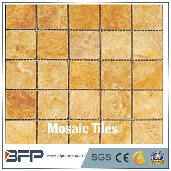 China Wholesale High Quality Anti Slip Stone Mosaic Floor Tile