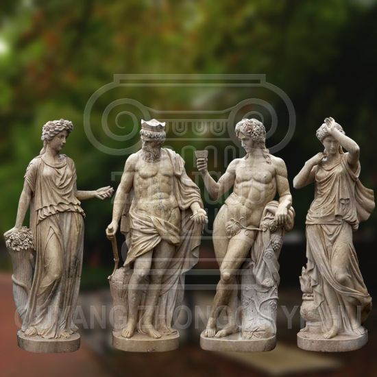 Marble Stone Granite Carving Four Season God Statue, Garden Decoration Bacchus Sculpture