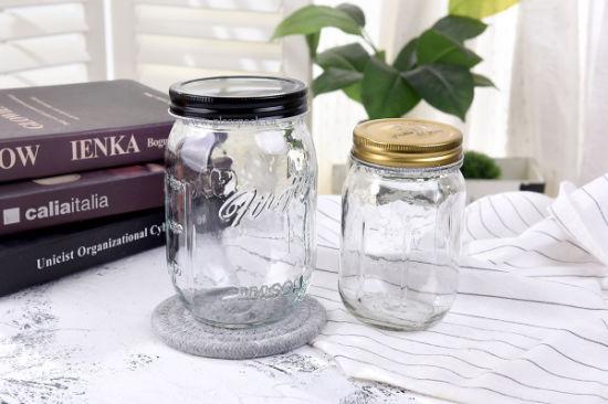 450ml Glass Mason Jar Milk Bottle