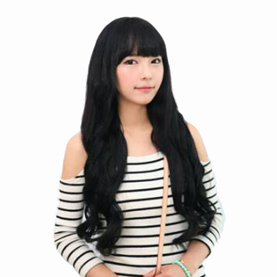 High Temperature Silk Adjustable Hair Cap Long Wavy Wigs pictures & photos