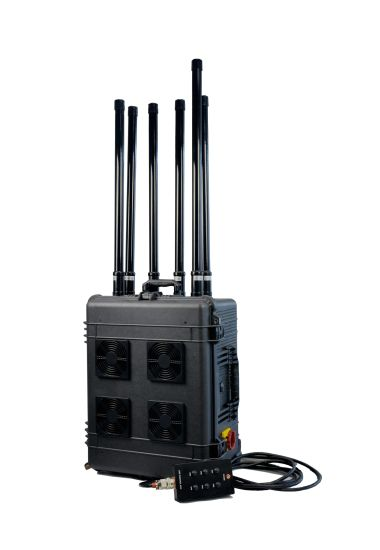 High Power Draw Bar Box 6 Channels Mobile Signal Jammer 300W Exspcially for Drone