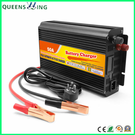12V 110V AC 50A Universal Lead Acid Car Battery Charger (QW-50A) pictures & photos