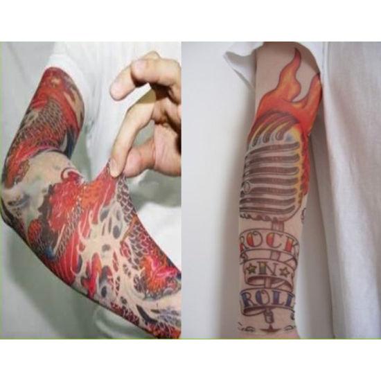 China Nylon Fake Tattoo Sleeves Cool Arms Sleeves - China ...