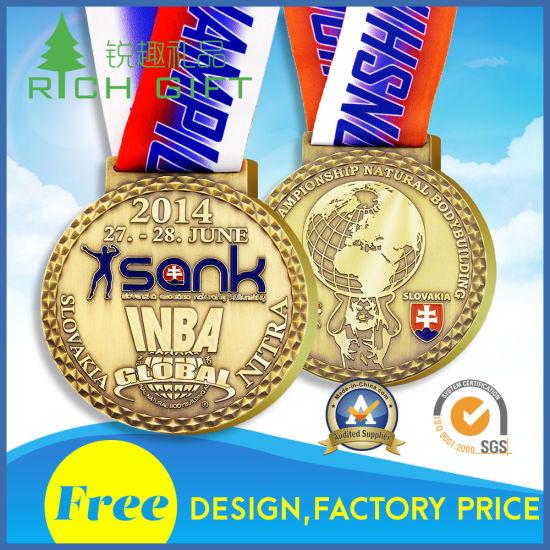 Manufacturer Custom Metal/Coin/Souvenir/Sport/Gold/Badge/Award/Marathon  Medallion No Minimum